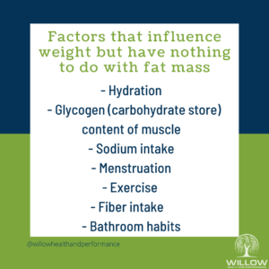 Factors that influence weight graphic