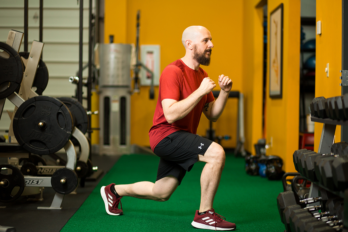 Brian doing lunges